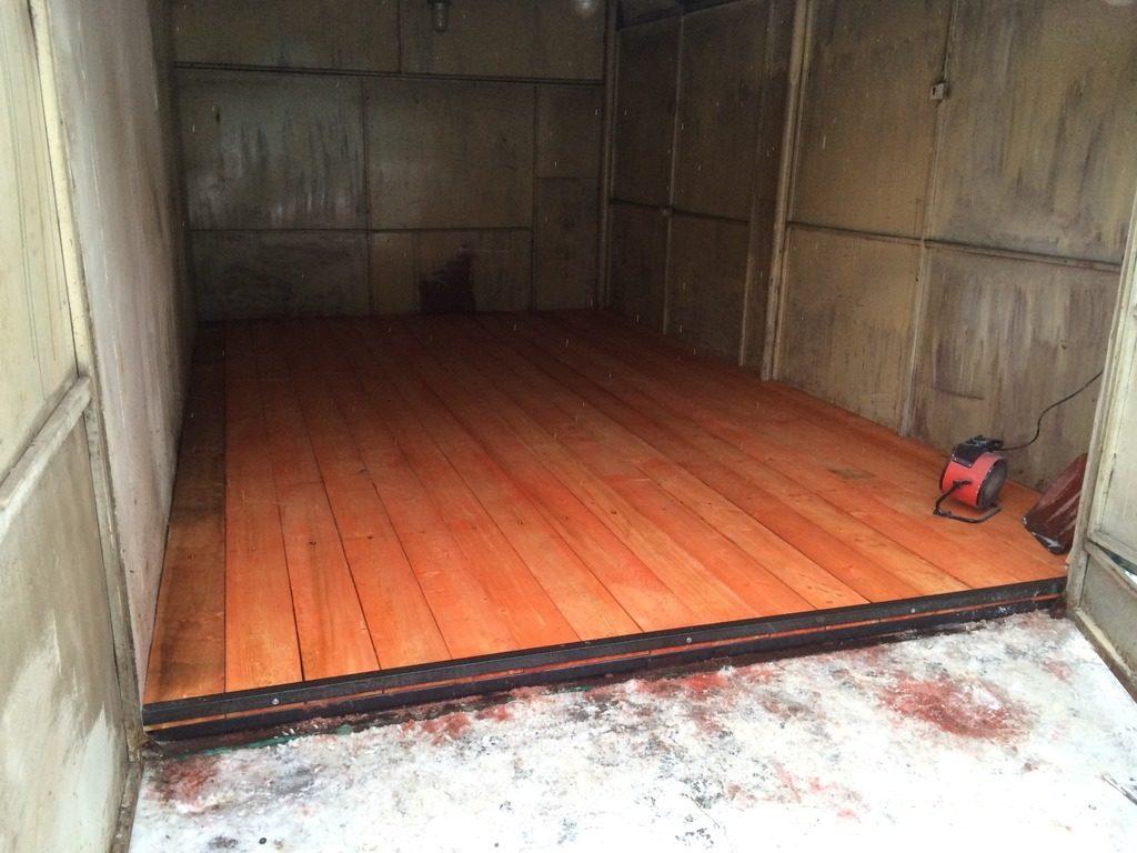 ремонт пола в гараже