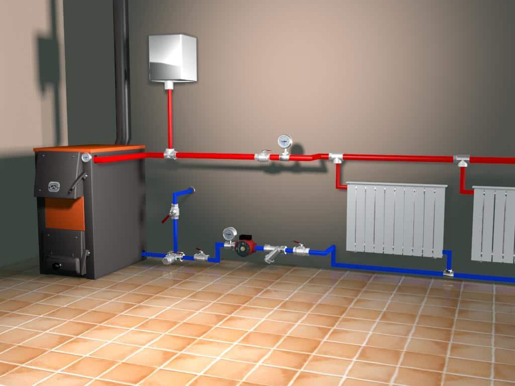 Gaz kazanlarında duvar montajı